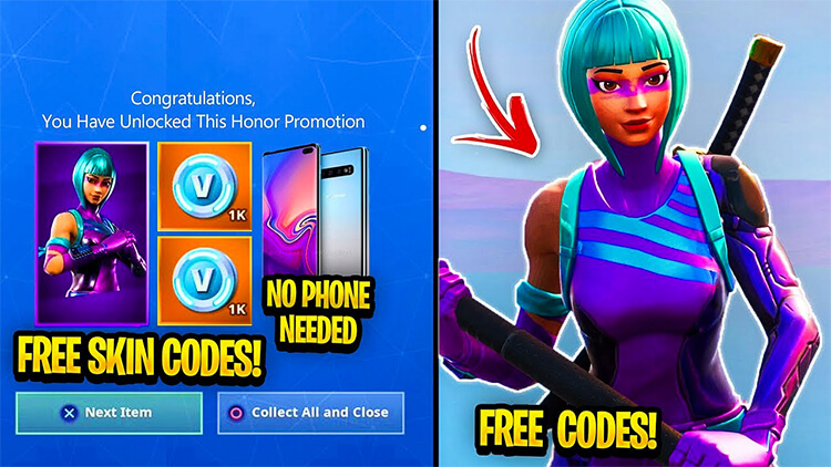 Free Fortnite Skin Codes